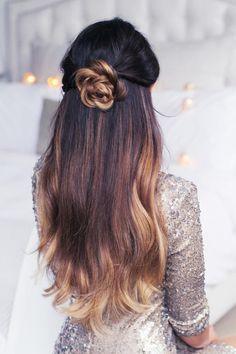 Rodete floral perfecto peinados para las mujeres ocupadas