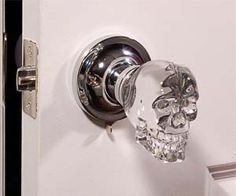 Give your lovely home a subtle touch of death and decay with the crystal skull door knob. Designed to look like a perfectly polished tiny human skull, the grim...