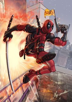 #Deadpool #Fan #Art. (Deadpool) By: Mariam Lamrani. ÅWESOMENESS!!!™ ÅÅÅ+