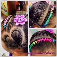 teenage hairstyles for school Shorts Teenage Hairstyles For School, Little Girl Hairstyles, Pretty Hairstyles, Cute Hairstyles, Braided Hairstyles, Braids For Kids, Girls Braids, Curly Hair Styles, Natural Hair Styles