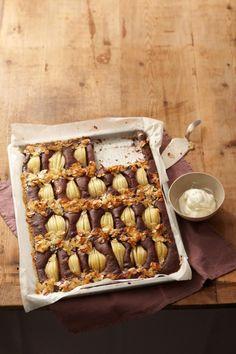▷ Birnenkuchen vom Blech: Rezept - [LIVING AT HOME]