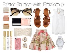 """""""Easter Brunch With Emblem 3"""" by wtftowear ❤ liked on Polyvore featuring moda, rag & bone/JEAN, Marta Ferri, H&M, Marc by Marc Jacobs, River Island, Chanel, Top Secret Society, American Apparel y Marc Jacobs"""