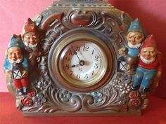 vintage gnomes | vintage gnomes clock