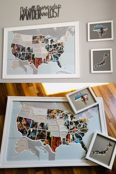 Capture a lifetime of memories and create a one-of-a-kind map showing where you've been or where you're going Boho Lifestyle, Home Projects, Projects To Try, Photo Maps, Camper Life, Remodeled Campers, Van Life, Photos, Diy Crafts