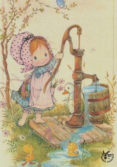 Hobby Noiva E Madrinhas Molde - Hobby Ideas Money - - - Weird Hobby Ideas Vintage Cards, Vintage Postcards, Cute Images, Cute Pictures, Sarah Key, Holly Hobbie, Fun Hobbies, Cute Illustration, Illustration Pictures