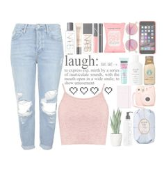"""""""//L A U G H//"""" by britney-brit ❤ liked on Polyvore featuring Boohoo, Topshop, NARS Cosmetics, Guerlain, Formula 10.0.6, Le Specs, Fresh, Chanel, St. Tropez and Kate Spade"""
