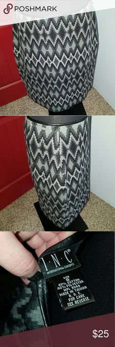 Skirt Black and Gray pencil skirt in great condition. INC International Concepts Skirts Pencil