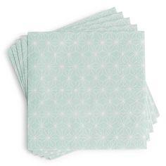Paquet de 20 serviettes en papier 13 x 13 cm IVY COCKTAIL