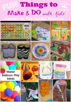 Mom to 2 Posh Lil Divas: Fun Things to Make and Do with Kids - The Sunday Showcase 6/8/13