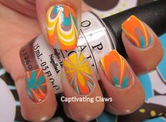 Captivating Claws: Weekly Water Marble 6/15/12