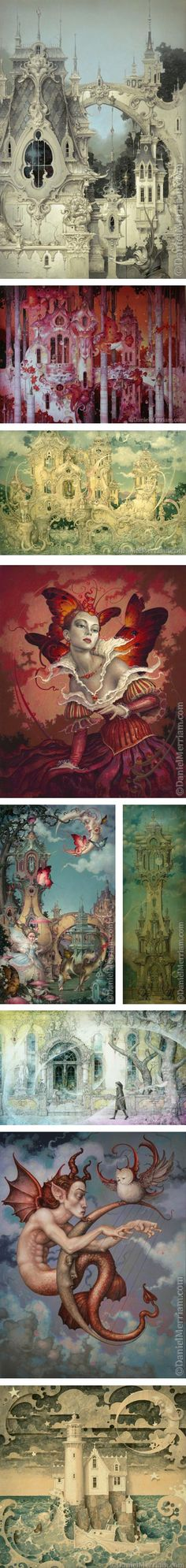 Daniel Merriam via Lines and Colors Fantasy World, Fantasy Art, Illustrations, Illustration Art, 3d Art, Surreal Art, Belle Photo, Oeuvre D'art, Painting & Drawing