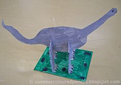 Use Your Coloured Pencils: Cardboard Dinosaur Sculptures