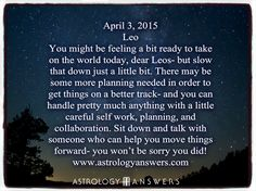 The Astrology Answers Daily Horoscope for Friday, April 3, 2015 #astrology