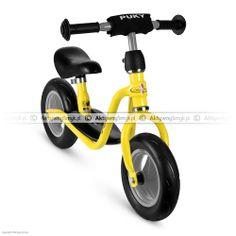 Żółty rowerek biegowy Puky LR M posiada regulację siodełka od 30 do 40 cm, regulowaną na wysokość kierownicę bez blokady skrętu i wysokiej jakości piankowe opony. Puky LR M waży ok. 3,5 kg. Ten model firma Puky proponuje dla dzieci o wzroście od 85 cm i wieku od 2 lata.