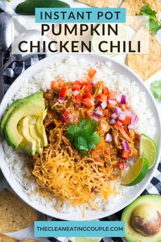 Pumpkin Chicken Chili is a delicious healthy chili recipe. Made with a few ingredients, Whole30 friendly & easy to make in the slow cooker or instant pot! Paleo, Whole30 and made in a crockpot or Instant Pot, this chili is loaded with flavor and so simple to make! Dairy Free Recipes, Paleo Recipes, Cooking Recipes, Yummy Recipes, Chili Recipes, Crockpot Recipes, Cooking Tips, Soup Recipes, Dinner Recipes