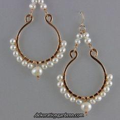 Bead Jewellery, Wire Jewelry, Beaded Jewelry, Jewelery, Jewellery Making, Bronze Jewelry, Rock Jewelry, Jewellery Storage, Wire Wrapped Earrings