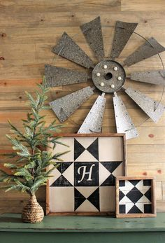 Tweetle Dee Design Co. Monogram Barn Quilts