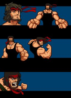 Sup guys! Here is the WIP for our game we working on that we have got on greenlight, and gotten a very good response. Character Inspiration, Character Art, Character Design, Cartoon Design, Cartoon Styles, Rocky Stallone, John Rambo, Arte Nerd, Simpsons