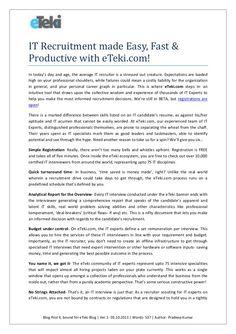 blog4-it-recruitment-made-easy-fast-productive-with-e-tekicom1 by eteki via Slideshare