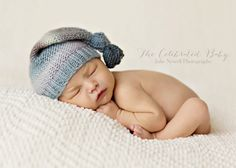 Hand Knit Newborn Baby Hat, Multicolored, Knotted Hat, Newborn Photo Shoot Prop by Cream of the Prop by CreamoftheProp on Etsy