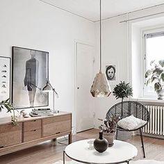 Birch white & brass living room ❤️ @myscandinavianhome ❤️
