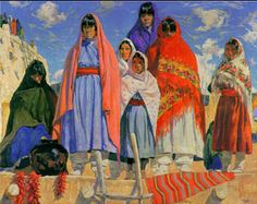 walter ufer paintings - Google Search. #santafe #newmexico #artists