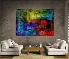 LARGE PAINTING Original PAINTING red abstract Modern Art Oil painting , Original signed and Hand made , contemporary art Oversize canvas