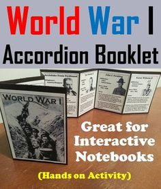 This booklet is a fun hands on activity for students to use in their interactive notebooks. Students may research or show what they have learned by writing different facts on the provided blank lines about each Historical Figure Associated with World War I.