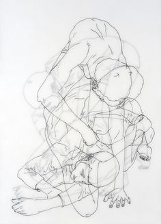 Sweet Illness (2009) by Moisés Mahiques - layered line drawing project (vellum?)