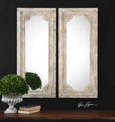 Uttermost Rapallo Aged Ivory Mirrors, S/2