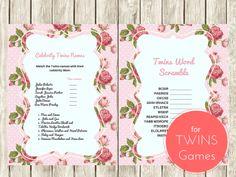 Twins Word Scramble Game, Celebrity Twins Names, Twin boys, Twin Girls, Baby Words Scramble Game, Celebrity Baby Names, Twins Names