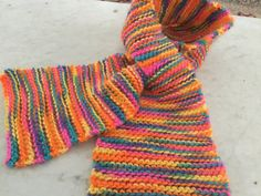Pull Through Short Knit Scarf Brilliant Fall by susanstreasures