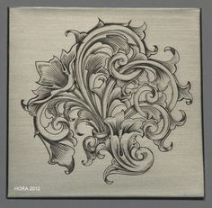 The Engraver's Cafe - The World's Largest Hand Engraving Community - My own scroll design engraved