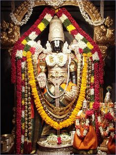 This Deity of Lord Vishnu, an expansion of Lord Krishna, is also known as Venkateshwara or Balaji, the Lord of seven hills at Tirupati. He holds a chakra (disc) and shankha (conch) in two hands and…