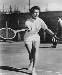 1940s - Legendary for her classic menswear style, Katharine Hepburn rejected the traditional tennis skirt and opted instead for flattering high-waisted shorts.