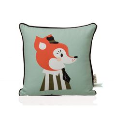 The Ferm Living Frank Fox cushion is a supremely cute childrens style cushion illustrated by Darling Clementine. The Frank Fox cushion is part of The Marionette Collection, the collection consists of 4 different designs including this one. Modern Throw Pillows, Accent Pillows, Art Wall Kids, Framed Wall Art, Casa Kids, Fox Pillow, Panda Pillow, Design3000, Animal Cushions