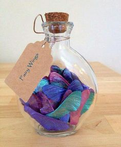 FAIRY WINGS JAR!  -use metallic colored paints to make them into fairy wings! http://rstyle.me/n/b2we9wb6dpf  (No fairies were harmed in the making)