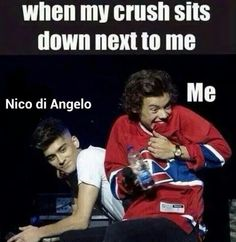 I'm not a directioner (not even in the slightest), but this picture was just too perfect with the caption. It fits me perfectly! XD ----- I love both 1D and Percy Jackson <3
