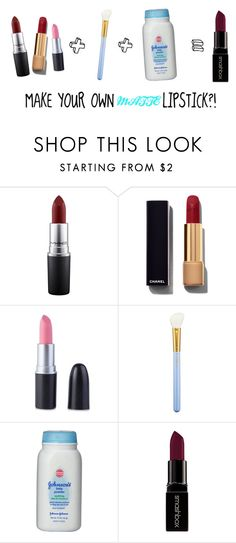 """""""MAKING DIY Matte Lipstick"""" by stylesbysophia ❤ liked on Polyvore featuring beauty, MAC Cosmetics, Chanel, Johnson's Baby and Smashbox"""