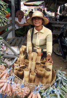 Palm Candy Vendor, Batdambang, Cambodia.  Photo: Craig !, via Flickr