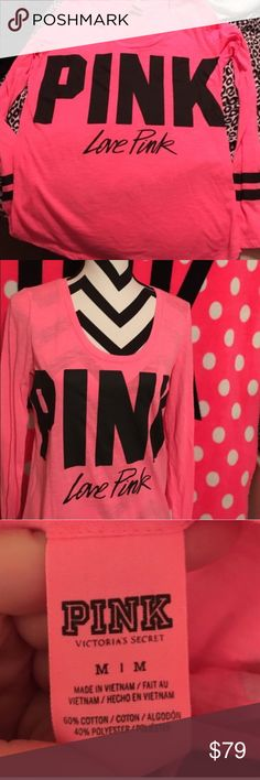 Victoria Secret Pink top size medium New without tags💗I washed it but never wore it...perfect for the Summer :) It is a long sleeve top PINK Victoria's Secret Tops