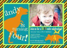 Dinosaur Birthday Party Invitation  Dinosaur by EveryMakingMoment, $13.00