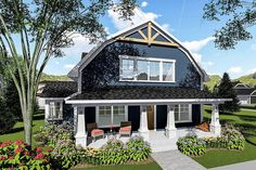 3-Bed House Plan with Gambrel Roof - 890051AH | Architectural Designs - House Plans
