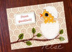 """Postkarte """"Frisch geschlüpft!"""" von Telse Ahrweiler       Kunst + Design auf DaWanda.com"""