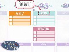 12-month bundle Half-box Checklist Printable by TheGiftedPepper