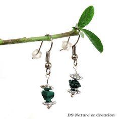 Malachite earrings gemstone jewelry woodland by DSNatureetCreation https://www.etsy.com/listing/243455561/malachite-earrings-gemstone-jewelry