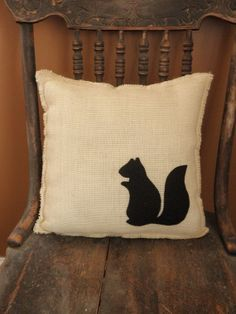 12 x 12 Off White Burlap Fringe Pillow with by theartsyhippie, $20.00