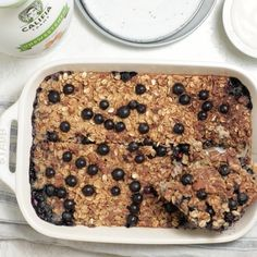 Vegan Breakfast Recipes – Baked Blueberry Oatmeal Baked Blueberry Oatmeal is a nutritious filling breakfast/brunch for a crowd or for meal prepping. It's made with vegan ingredients and is highly adaptable! Breakfast And Brunch, Quinoa Breakfast, Breakfast Cookies, Eat Clean Breakfast, Oatmeal Breakfast Recipes, Yummy Breakfast Ideas, Vegan Breakfast Casserole, Best Vegan Breakfast, Microwave Breakfast