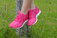 bright colored sneakers Rainbow Sneakers, Bright Colors, Black And White, My Style, Fitness, Pink, Shoes, Bright Colours, Zapatos