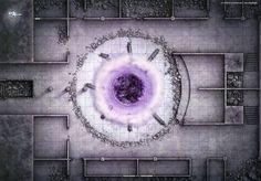 Battlemap Chapitre II - Les catacombes Confrontation avec le Roi Noir Léoric afin de mettre fin à la malédiction qui anime les morts dans la région.